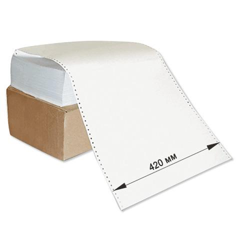 """Бумага с неотрывной перфорацией 420х305(12"""")х2000 (1600л.), плотность 65г/м2,белизна 98%, STARLESS  Код: 110068"""
