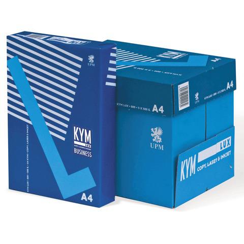 Бумага офисная А4, класс B, KYM LUX BUSINESS, 80 г/м, 500 л., Финляндия, белизна 164% (CIE)  Код: 110074