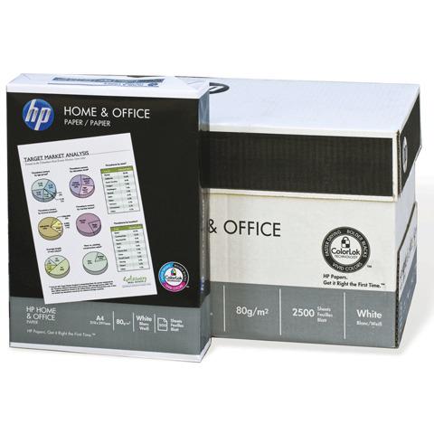 Бумага офисная А4, класс C+, HEWLETT-PACKARD (HP) HOME&OFFICE,80г/м,500л,International Paper,бел146%(CIE)  Код: 110164