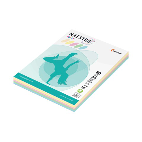 Бумага MAESTRO color А4, 80 г/м, 250 л. (5цв.x50л.) цветная пастель RB01 ш/к 23074  Код: 110213