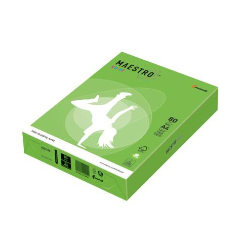 Бумага MAESTRO color А4, 80 г/м, 500 л. интенсив зеленая MA42 ш/к 22909  Код: 110218