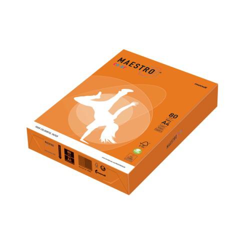 Бумага MAESTRO color А4, 80 г/м, 500 л. интенсив оранжевая OR43 ш/к 22916  Код: 110221