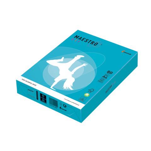 Бумага MAESTRO color А4, 80 г/м, 500 л. интенсив светло-синяя AB48 ш/к 22954  Код: 110222