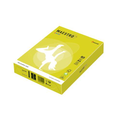 Бумага MAESTRO color А4, 80 г/м, 500 л. неон желтая NEOGB ш/к 22978  Код: 110224