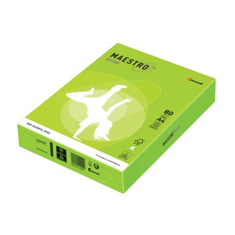 Бумага MAESTRO color А4, 80 г/м, 500 л. неон зеленая NEOGN ш/к 22985  Код: 110225