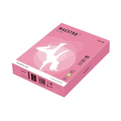 Бумага MAESTRO color А4, 80 г/м, 500 л. неон розовая NEOPI ш/к 23005  Код: 110227