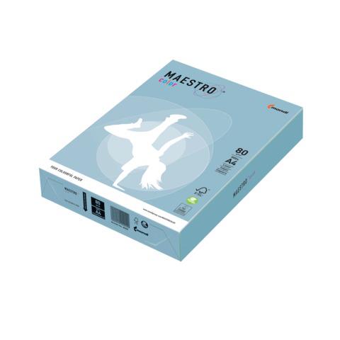 Бумага MAESTRO color А4, 80 г/м, 500 л. пастель голубой лед OBL70 ш/к 22794  Код: 110228
