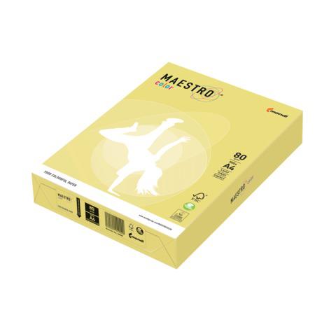 Бумага MAESTRO color А4, 80 г/м, 500 л. умеренно-интенсив (тренд) лимонно-желтый ZG34 ш/к 22695  Код: 110229