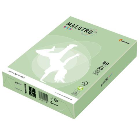 Бумага MAESTRO color А4, 80 г/м, 500 л. пастель зеленая MG28 ш/к 22749  Код: 110230