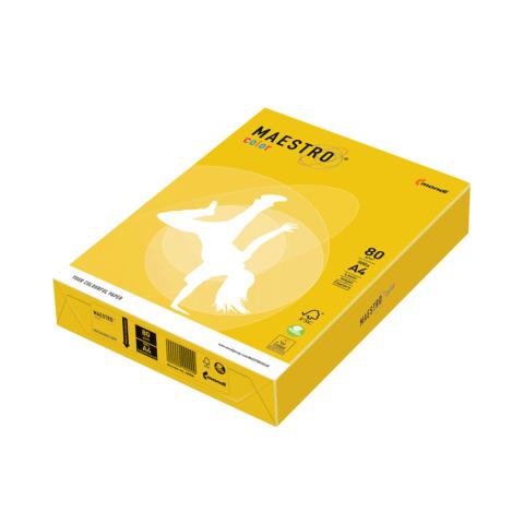 Бумага MAESTRO color А4, 80 г/м, 500 л. интенсив ярко-желтый IG50, ш/к 22886  Код: 110286
