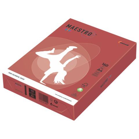 Бумага MAESTRO color А4, 160 г/м, 250 л. интенсив кораллово-красный CO44 ш/к 24378  Код: 110313