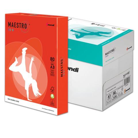 Бумага MAESTRO color А3, 80 г/м, 500 л. интенсив кораллово-красный CO44 ш/к 23791  Код: 110318