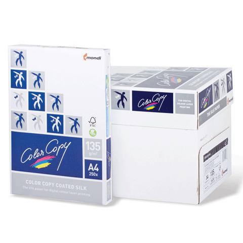 Бумага COLOR COPY SILK мел матовая А4, 135г/м, 250л, д/полноцв.лазер. печати, А++, Австрия,138%(CIE)  Код: 110330