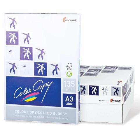 Бумага COLOR COPY GLOSSY мел глянц А3, 135г/м, 250л, д/полноцв.лазерной печати,А++,Австрия,138%(CIE)  Код: 110336