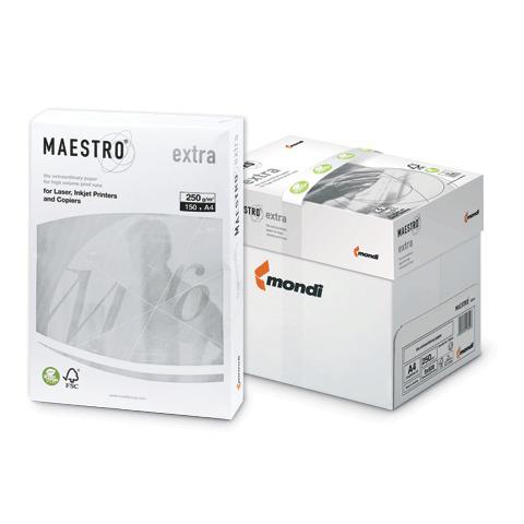 "Бумага MAESTRO EXTRA А4, 250 г/м, 150 л. класс ""А+"" Австрия белизна 169% (CIE), ш/к 31611  Код: 110345"