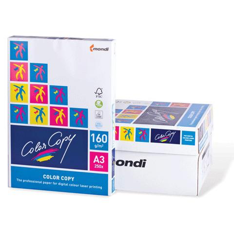 Бумага COLOR COPY А3, 160г/м, 250л., д/полноцв.лазерной печати, А++, Австрия, 161%(CIE), ш/к 16380  Код: 110353