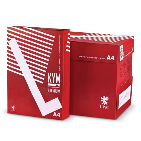 Бумага офисная А4, класс A, KYM LUX PRЕMIUM, 80г/м, 500л., Финляндия, белизна 170% (CIE)  Код: 110412