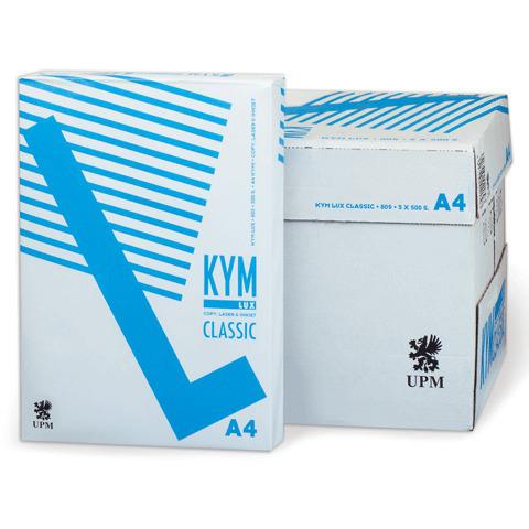 """Бумага офисная А4, класс """"C+"""", KYM LUX CLASSIC, 80г/м, 500л., Финляндия, белизна 150% (CIE)  Код: 110416"""