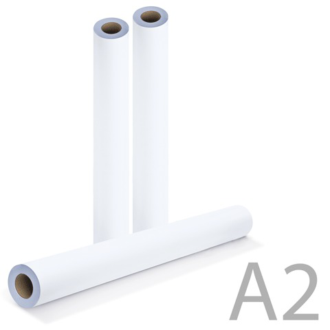 Рулон для плоттера 420мм*175м*вт.76мм, 80г/м2, белизна CIE 146%, диам.170мм, BRAUBERG (Брауберг) 110453  Код: 110453