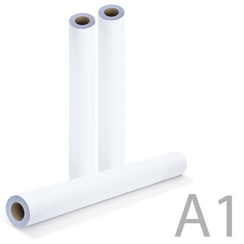 Рулон для плоттера 594мм*175м*вт.76мм, 80г/м2, белизна CIE 162%, диам.170мм, BRAUBERG (Брауберг) 110454  Код: 110454