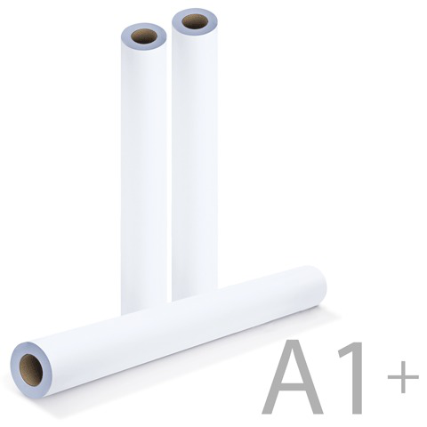 Рулон для плоттера 610мм*50м*вт.50,8мм, 80г/м2, белизна CIE 162%, диам.100мм, BRAUBERG (Брауберг) 110455  Код: 110455