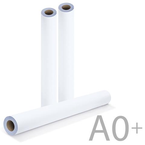 Рулон для плоттера 914мм*50м*вт.50,8мм, 80г/м2, белизна CIE 146%, диам.100мм, BRAUBERG (Брауберг) 110458  Код: 110458