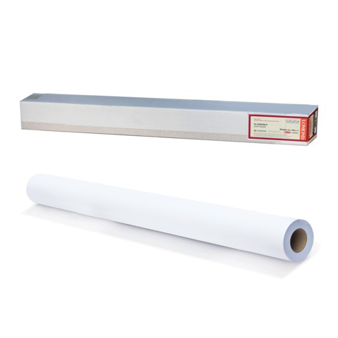Рулон для плоттера (холст) 914мм*10м*вт.50,8мм, 300г/м2, фактура льняной ткани, LOMOND 1207012  Код: 110469