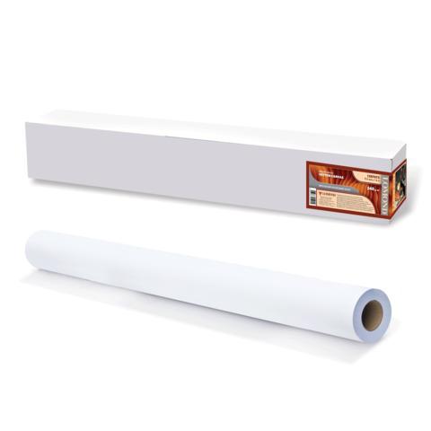 Рулон для плоттера (арт.бумага) 914мм*15м*вт.50,8мм, 340г/м2, ярко-бел.матов.хлоп.покр, LOMOND 1207072  Код: 110470