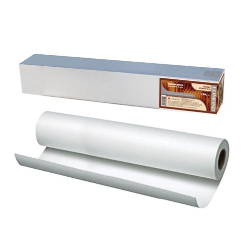 Рулон для плоттера (арт.бумага) 610мм*12,3м*вт.76мм, 230г/м2, натур.бел, фактура льнян, LOMOND 1211321  Код: 110472