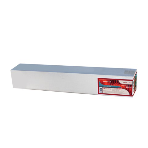 Рулон для плоттера (арт.бумага) 610мм*12,3м*вт.76мм, 290г/м2, ярко-бел. бархат фактура, LOMOND 1211130  Код: 110475
