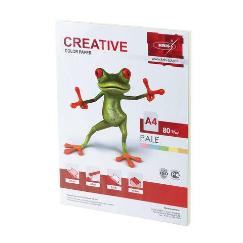 Бумага CREATIVE color (Креатив) А4, 80г/м, 100 л. (5 цв.х20л.) цветная пастель, БПpr-100r, ш/к 40679  Код: 110499