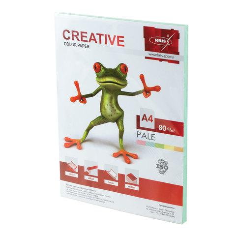 Бумага CREATIVE color (Креатив) А4, 80г/м, 100 л. пастель зеленая, БПpr-100з, ш/к 41874  Код: 110500
