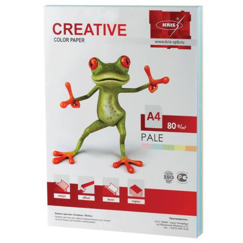 Бумага CREATIVE color (Креатив) А4, 80г/м, 250 л. (5 цв.х50л.) цветная пастель, БПpr-250r, ш/к 40884  Код: 110503
