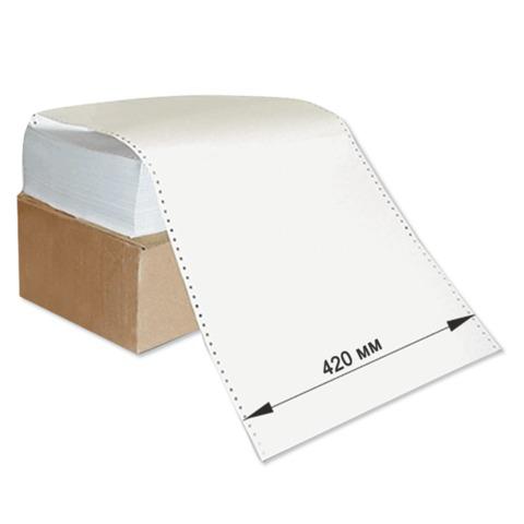 """Бумага с неотрывной перфорацией 420х305(12"""")х1500л., плотность 60г/м2, белизна 93%, 350059  Код: 110537"""