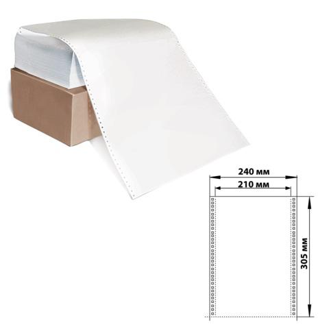 """Бумага с отрывной перфорацией 240х305(12"""")х1500л., плотность 60г/м2, белизна 93%, 350028  Код: 110538"""