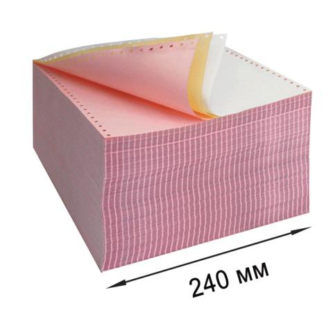 """Бумага с отрывной перфорацией самокопирующая цветная 240х305(12"""") 3-х сл. (600 компл), 350073  Код: 110540"""