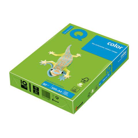 Бумага IQ (АйКью) color А4, 80 г/м, 500 л., интенсив ярко-зеленая MA42 ш/к 06497  Код: 110658
