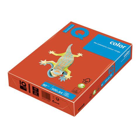 Бумага IQ color А4, 80 г/м, 500 л., интенсив, красный кирпич, ZR09, ш/к 12726  Код: 110661