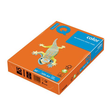Бумага IQ (АйКью) color А4, 80 г/м, 500 л., интенсив оранжевая OR43 ш/к 00860  Код: 110662