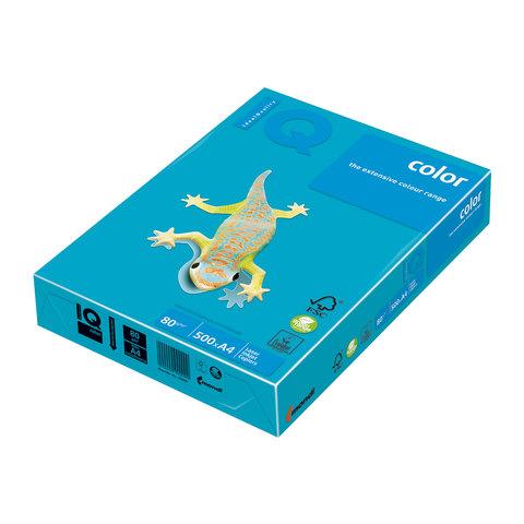 Бумага IQ (АйКью) color А4, 80 г/м, 500 л., интенсив светло-синяя AB48 ш/к 02789  Код: 110663