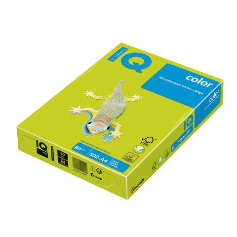 Бумага IQ (АйКью) color А4, 80 г/м, 500 л., неон зеленая NEOGN ш/к 12030  Код: 110668