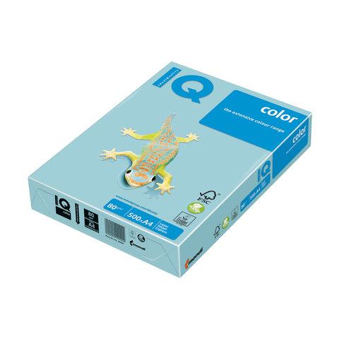 Бумага IQ (АйКью) color А4, 80 г/м, 500 л., пастель голубая MB30 ш/к 00136  Код: 110671