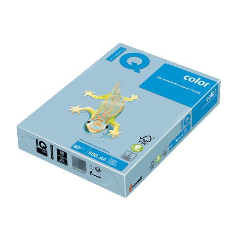 Бумага IQ (АйКью) color А4, 80 г/м, 500 л., пастель голубой лед OBL70 ш/к 16687  Код: 110672