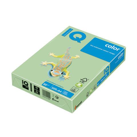 Бумага IQ (АйКью) color А4, 80 г/м, 500 л., пастель зеленая MG28  ш/к 00150  Код: 110674