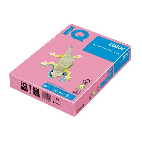 Бумага IQ (АйКью) color А4, 80 г/м, 500 л., пастель розовый фламинго OPI74 ш/к 15390  Код: 110676
