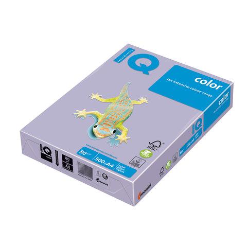 Бумага IQ (АйКью) color А4, 80 г/м, 500 л., умеренно-интенсив (тренд) бледно-лиловая LA12 ш/к 06398  Код: 110677