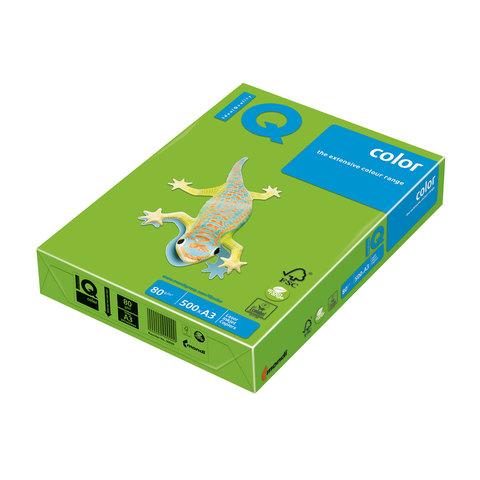 Бумага IQ (АйКью) color А3, 80 г/м, 500 л., интенсив зеленая MA42 ш/к 06503  Код: 110681