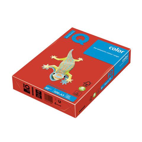 Бумага IQ color А3, 80 г/м, 500 л., интенсив кораллово-красная CO44 ш/к 00754  Код: 110683