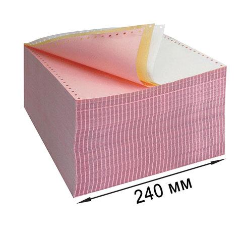 """Бумага самокопирующая с перфорацией цветная, 240х305мм (12""""), 3-х сл, 600 компл., DRESCHER 110695  Код: 110695"""