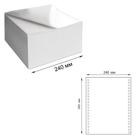 """Бумага самокопирующая с перфорацией белая, 240х305мм (12""""), 3-х сл, 600 компл., DRESCHER 110757  Код: 110757"""